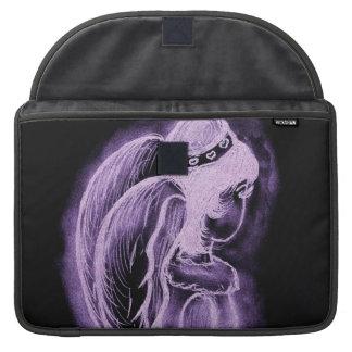 Purple Inverted Sideways Angel Sleeve For MacBooks