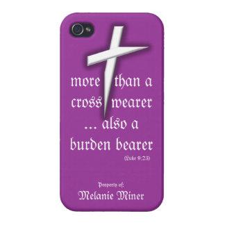 Purple iPhone Case w/ Cross