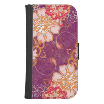 Purple iPhone  Samsung Galaxy Wallet Case