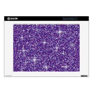 Purple iridescent glitter acer chromebook skin