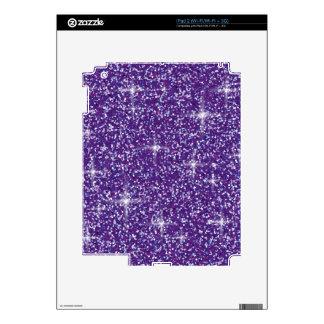 Purple iridescent glitter skins for iPad 2