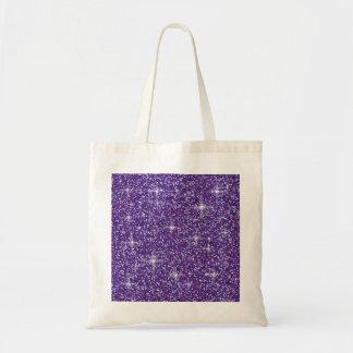 Purple iridescent glitter tote bag
