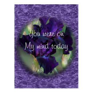 Purple Iris 2899wvbk - customize any occasion Postcard