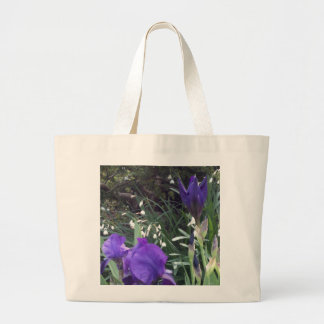 Purple Iris #2 Large Tote Bag