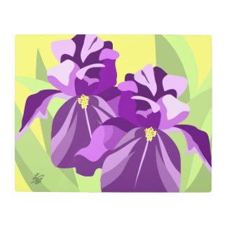 Purple Iris Abstract Flower Art
