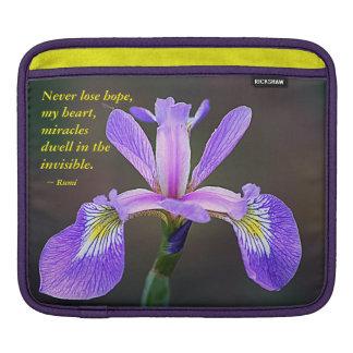 Purple Iris and Rumi iPad Sleeve