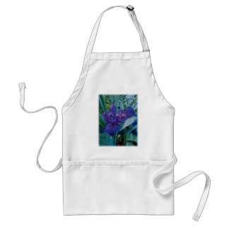 Purple Iris Adult Apron