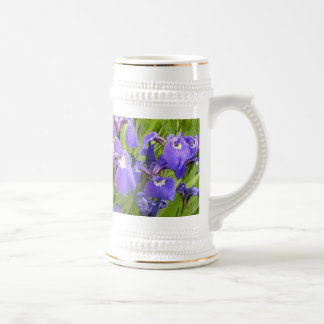 Purple Iris Beer Stein