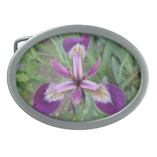 Purple Iris Belt Buckle