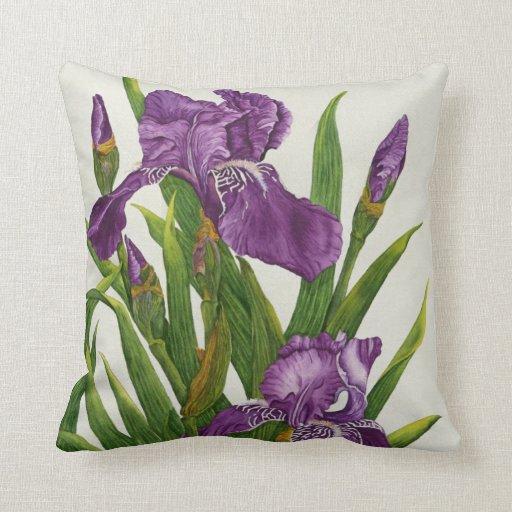 Purple Iris Botanical - Pillow Pillow