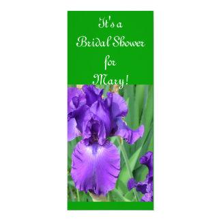 Purple Iris Bridal Shower Card