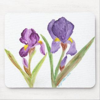 Purple Iris by EelKat Mouse Pad