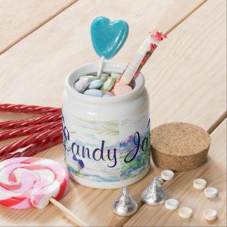 Purple Iris Candy Jar