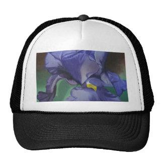 Purple Iris cap Mesh Hats