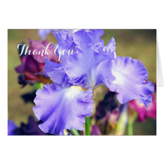 Purple Iris Custom Thank You Note Card