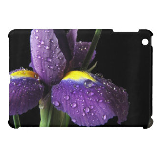 Purple Iris Dewdrop Macro ipad mini case Flower
