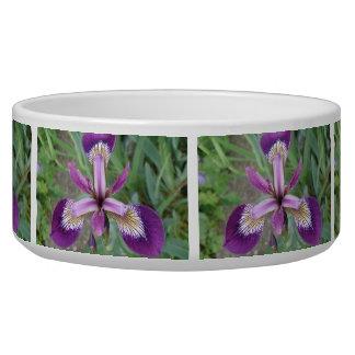 Purple Iris Dog Bowl