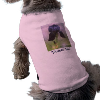 Purple Iris dog shirt