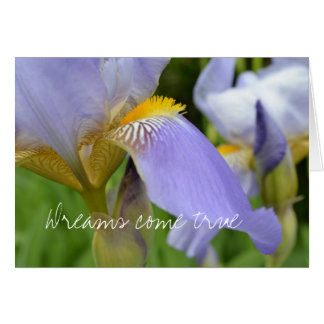 Purple Iris-Dreams come true Card