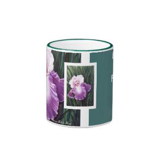 Purple Iris Family & Friends Mug - Customized