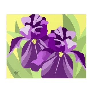 Purple Iris Floral Art