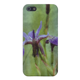 Purple Iris Floral Impressionist Painting Cover For iPhone SE/5/5s
