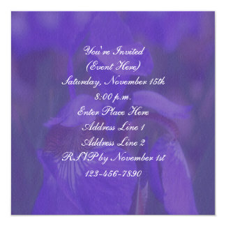 Purple Iris Floral Square Party Invitation