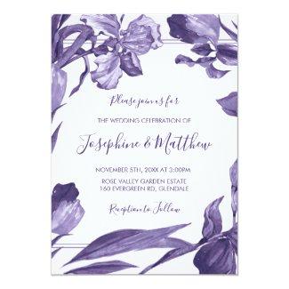 Purple Iris Floral Wedding Invitations