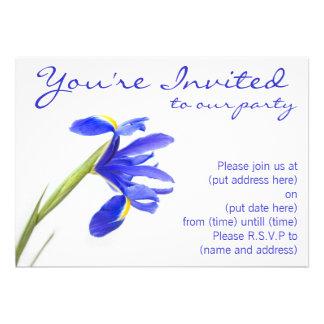 Purple Iris Flower Announcement