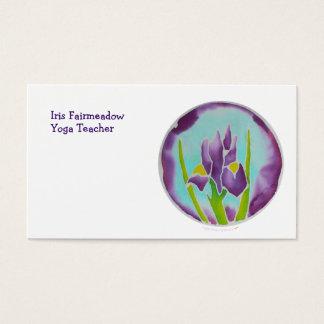 Purple Iris Flower Batik Art Business Card