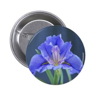 Purple Iris flower Pin