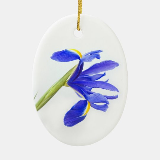 Purple Iris Flower Ceramic Ornament