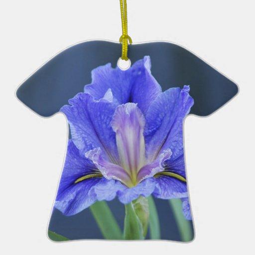 Purple Iris flower Christmas Tree Ornament