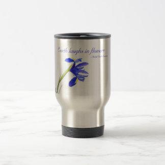 Purple Iris Flower - Earth laughs in flowers Mugs