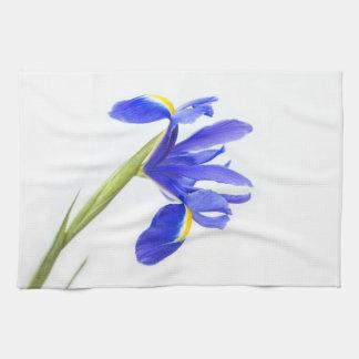 Purple Iris Flower Hand Towel