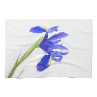 Purple Iris Flower Kitchen Towel