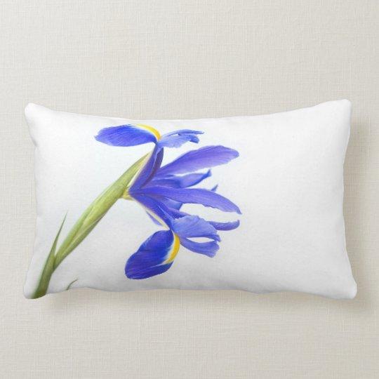 Purple Iris Flower Lumbar Pillow