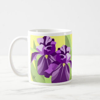 Purple Iris Flower Mugs