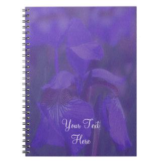Purple Iris Flower Personalized Notebook