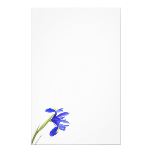 Purple Iris Flower Stationery