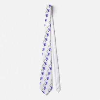 Purple Iris Flower Tie