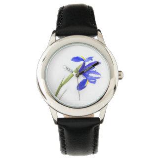 Purple Iris Flower Wrist Watches