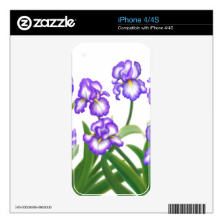 Purple Iris Flowers Zazzle Skin Skins For The iPhone 4S