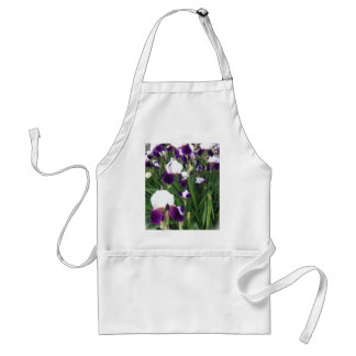 Purple Iris Garden Adult Apron