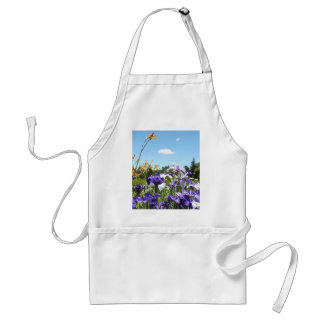 Purple Iris Garden Adult Apron