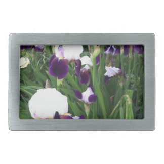 Purple Iris Garden Belt Buckle