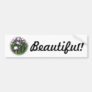 Purple Iris Garden Car Bumper Sticker