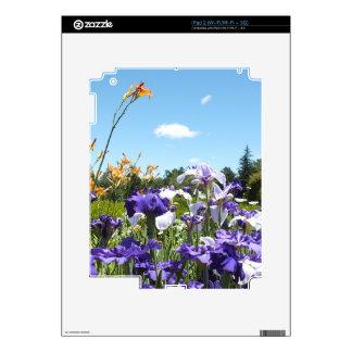 Purple Iris Garden Decal For iPad 2