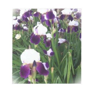 Purple Iris Garden Notepad