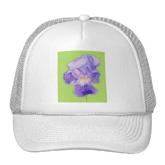 Purple Iris green Hat